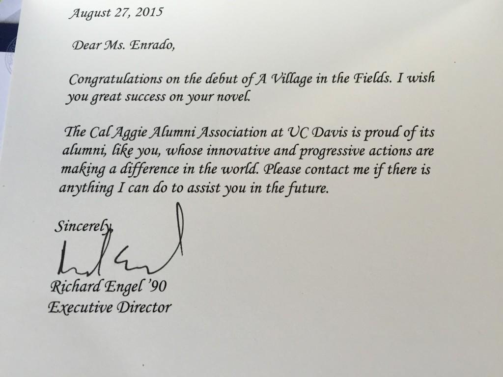 UC Davis alumni note 082615