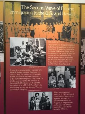 The second wave of Filipino immigrants.