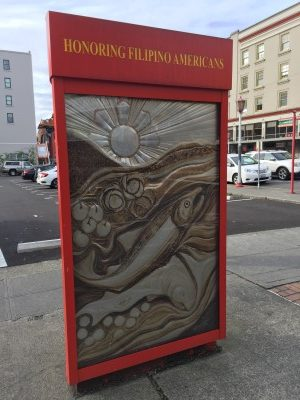 Filipino American Historical kiosk.