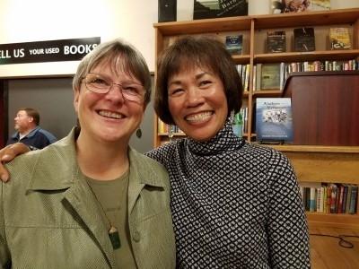 Mini reunion with my high school best friend, Kathy (photo courtesy of Peter Vershoor).