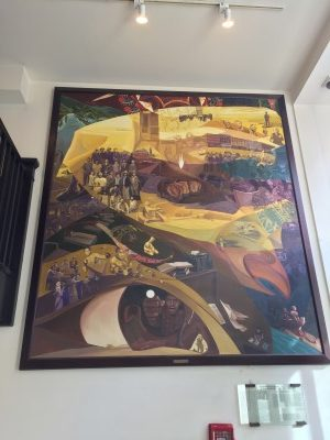Eliseo Silva's Carlos Bulosan mural at the Eastern Hotel, 1999.
